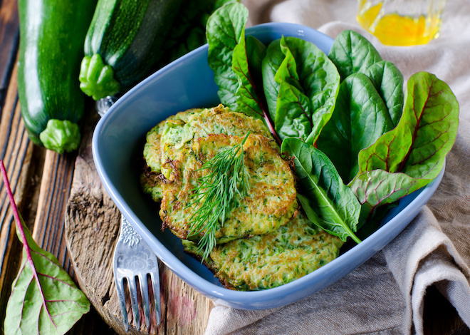 c. onion and zucchini fritters