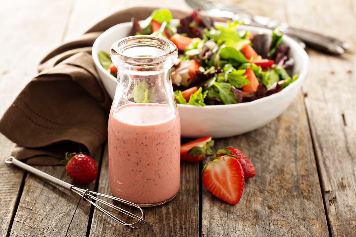 Strawberry poppy seed salad dressing
