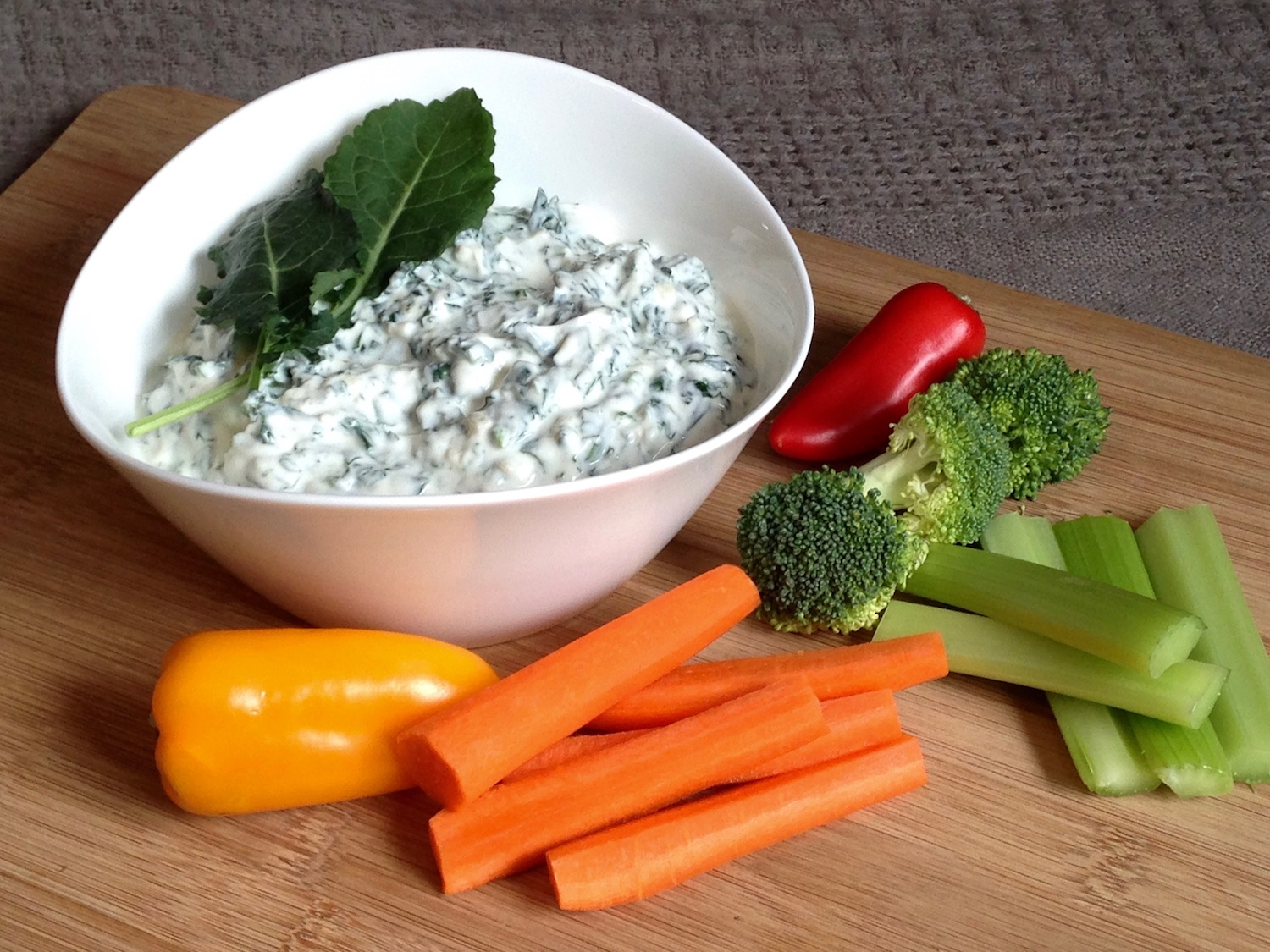 Greek yogurt and kale dip