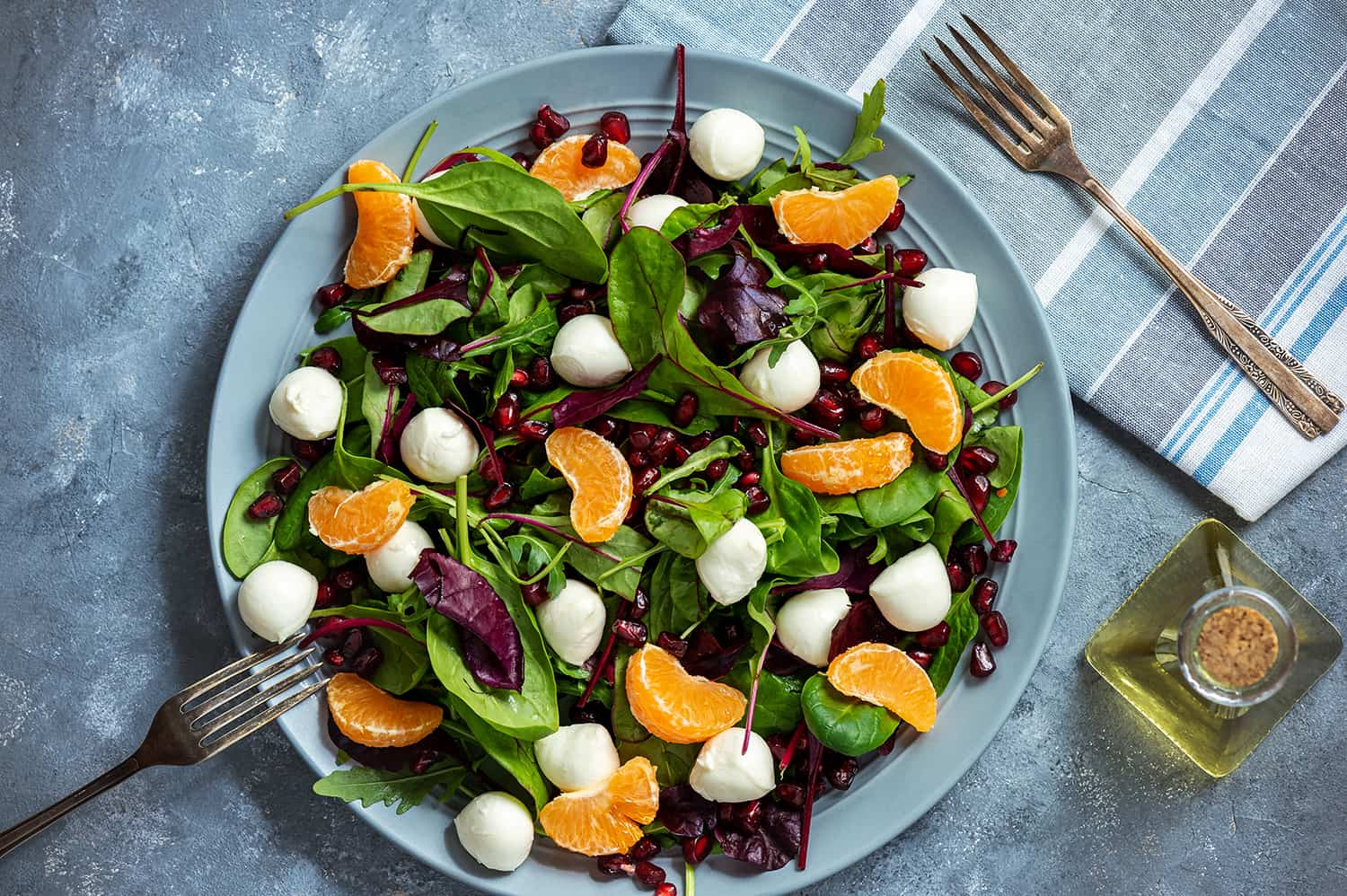 Clementine, Bocconcini and Pomerganate Salad